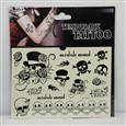 Halloween Ornaments Cool Body Art Mixed Skull Removable Fake Temporary Tattoos Paper Stickers,9~62mm wide, 13~117mm long, box: 170x160x0.6mm(AJEW-O006-33)