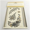 Mixed Shapes Cool Body Art Removable Fake Temporary Tattoos Metallic Paper Stickers, Black, 17~186x15~52mm