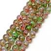 Baking Painted Glass Beads Strands, Imitation Opalite, Round, MistyRose, 8mm, Hole: 1.3~1.6mm; about 100pcs/strand, 31.4