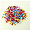 Colorful Cute Buttons, ABS Plastic Button, Mixed Color, 14mm long,12.5mm wide, hole: 3mm