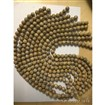 Natural Leopardskin Round Bead Strands, Undyed, 12mm, Hole: 1mm
