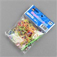 DIY Tie Dye Transparent Neon Rubber Loom Bands Refills, Mixed Color, 130x90x14mm(DIY-R008-M3)