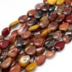 Natural Gemstone Mookaite Beads Strands, Drop, 13mm wide, 18mm long, 5mm thick, hole: 1mm