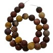 Mookaite Gemstone Strand, Round, 6mm in diameter, Hole:0.8mm