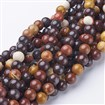 Gemstone Beads Strands, Round, Mookaite, 8mm in diameter, hole: 1mm