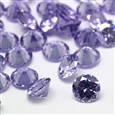 Cubic Zirconia Cabochons, Grade A, Faceted, Diamond, Lilac, 8mm in diameter, 4.6mm thick(ZIRC-M002-8MM-004)
