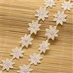 Flower Cotton Ribbon for Jewelry Making, Beige, 23mm wide