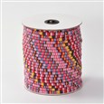 Rope Cloth Ethnic Cords, HotPink, 4mm in diameter(K-OCOR-F003-4mm-14)