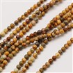 Natural Gemstone Leopardskin Round Beads Strands, 3mm in diameter, hole: 0.8mm