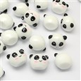 Panda Resin Cabochons, White, 16mm long, 21mm wide, 16mm thick, bottom: 11mm(CRES-R183-44)