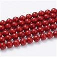 Shell Pearl Beads Strands, Grade A, Polished, Round, DarkRed, 6mm in diameter, hole: 0.5mm(SP6MM244)