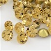 Vintage Grade A Glass Pointed Back Chaton Rhinestones, Back Plated, Diamond, Lt.Col.Topaz, 1.6~1.7mm; about 144pcs/gross