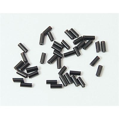 Glass Bugle Beads, Seed Beads, Black, 4.5mm long, 1.8mm in diameter, h