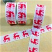 Christmas Reindeer DIY Scrapbook Decorative Adhesive Tapes, Red, 15mm, 5m/roll