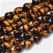 Natural Tiger Eye Bead Strands, Drop, 13mm in diameter, 18mm long, hole: 1mm