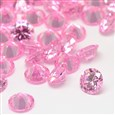 Cubic Zirconia Cabochons, Grade A, Faceted, Diamond, PearlPink, 8mm in diameter, 4.6mm thick(ZIRC-M002-8MM-005)