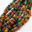 Dyed Chip Natural Freshwater Shell Beads Strands, Colorful, 2~3mm wide, 7~13mm long, hole: 1mm(SHEL-E355-15)