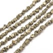Natural Pyrite Nuggets Beads Strands, 3~6mm wide, 5~8mm long, hole: 1mm