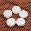 Flat Round Imitation Pearl Acrylic Beads, White, 14mm in diameter, 5.5mm thick, hole: 1mm