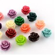 Dyed Synthetical Coral Beads, Flower, Mixed Color, 12mm in diameter, 8.5~9mm thick, hole: 1mm(CORA-R011-34-A)
