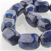 Dyed Natural Gemstone Bead Strands, Faceted Cuboid, 20x15x15mm, Hole: 1mm; about 19pcs/strand, 15.55