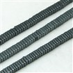Non-magnetic Hematite Beads Strands, Square, Black Plated, 3mm in diameter, 1mm thick, hole: 1mm