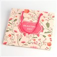 Flower Pattern Paper Pouches Gift Bags, Word Beautiful Day, with Nylon Thread, Colorful, 200x200x82mm(CARB-M013-A-07)