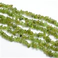 Peridot Nuggets Beads Strands, 3~5mm wide, 3~5mm long, hole: 1mm(G-O049-A-07)