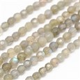 "Natural Labradorite Round Bead Strands, Faceted, 4mm, Hole: 1mm; about 100pcs/strand, 15.7""(K-G-N0081-F4mm-07)"