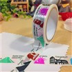 (Buy 3,Pay for 2) Twelve Big World Vacation Tourist Destination DIY Scrapbook Japanese Paper Adhesive Tapes, Colorful, 15mm