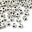 Mixed Constellation Craft Style Acrylic European Beads, Cube Large Hole Beads, Black, 7.5mm long, 7.5mm wide, 7.5mm thick, hole: 4mm