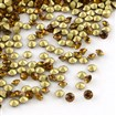 Vintage Grade A Glass Pointed Back Chaton Rhinestones, Back Plated, Diamond, Coffee, 1.9mm; about 144pcs/gross