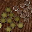 20mm Clear Domed Glass Cabochon Cover for DIY Alloy Photo Connector Making, Antique Bronze, Connector Settings: 22x29x2.5mm, Tray: 20mm, Hole: 2mm