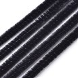 "11.8"" Tinsel Decoration DIY Chenille Stem Tinsel Garland Craft Wire, Black, 300mm long, 5mm in diameter(AJEW-S007-08)"