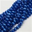 Cat Eye Beads, Round, MarineBlue, 4mm, Hole: 0.8mm