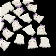 Ghost Resin Cabochons, White, 28mm long, 25mm wide, 8mm thick(CRES-R183-48)