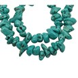 Gemstone Beads Strands, Natural Howlite, Dyed, Chip(TURQ-16L-148)