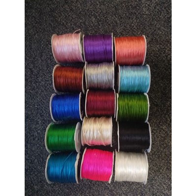 nylon threads, approx 1-1.2mm thick, 15 rolls