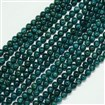 Natural Apatite Beads Strands, Round, Teal, 8mm, Hole: 1mm; about 50pcs/strand, 15.7