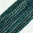 "Natural Apatite Beads Strands, Round, Teal, 8mm, Hole: 1mm; about 50pcs/strand, 15.7""(K-G-A163-01-8mm)"