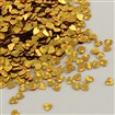 Ornament Accessories Heart Shape Plastic Paillette Beads, Sequin Beads, No Hole, Goldenrod, 3mm long, 3mm wide, 0.1mm thick