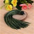 Beautiful Design Nylon Tassel Pendant Decorations, DarkGreen, 18mm wide, 160mm long, hole: 4mm(NWIR-I007-19)