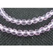 Glass Beads Strands, Faceted, Round, Pink, about 4mm in diameter, hole:  1mm