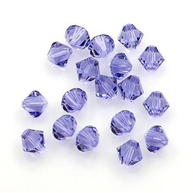 Crystal Beads, 5301-8mm, Bicone, Tanzanite, 8mm