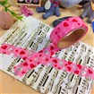 Heart DIY Scrapbook Decorative Adhesive Tapes for Valentine's Day, Pink, 15mm, 6m/roll