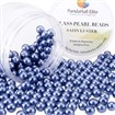 Pearlized Glass Pearl Round Beads, Dyed, MidnightBlue, 8mm, Hole: 1mm; about 200pcs/box