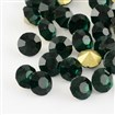 Vintage Grade A Glass Pointed Back Chaton Rhinestones, Back Plated, Diamond, Emerald, 1.9mm; about 144pcs/gross
