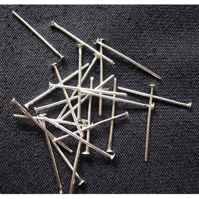 Brass Headpins, Silver Color