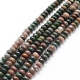 Natural Indian Agate Bead Strands, Abacus, DarkGreen, 6~7x4~5mm, Hole: 1mm(K-G-UK0003-04A)
