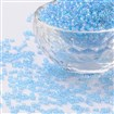 Round Glass Seed Beads, Transparent Colours Rainbow, Round, PaleTurquoise, 2mm in diameter, hole:1mm